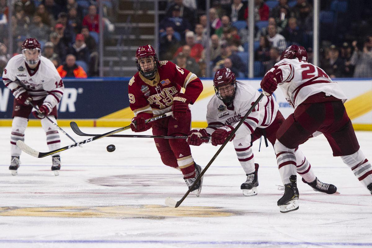 NCAA HOCKEY: APR 11 Div I Men's Frozen Four - Massachusetts v Denver