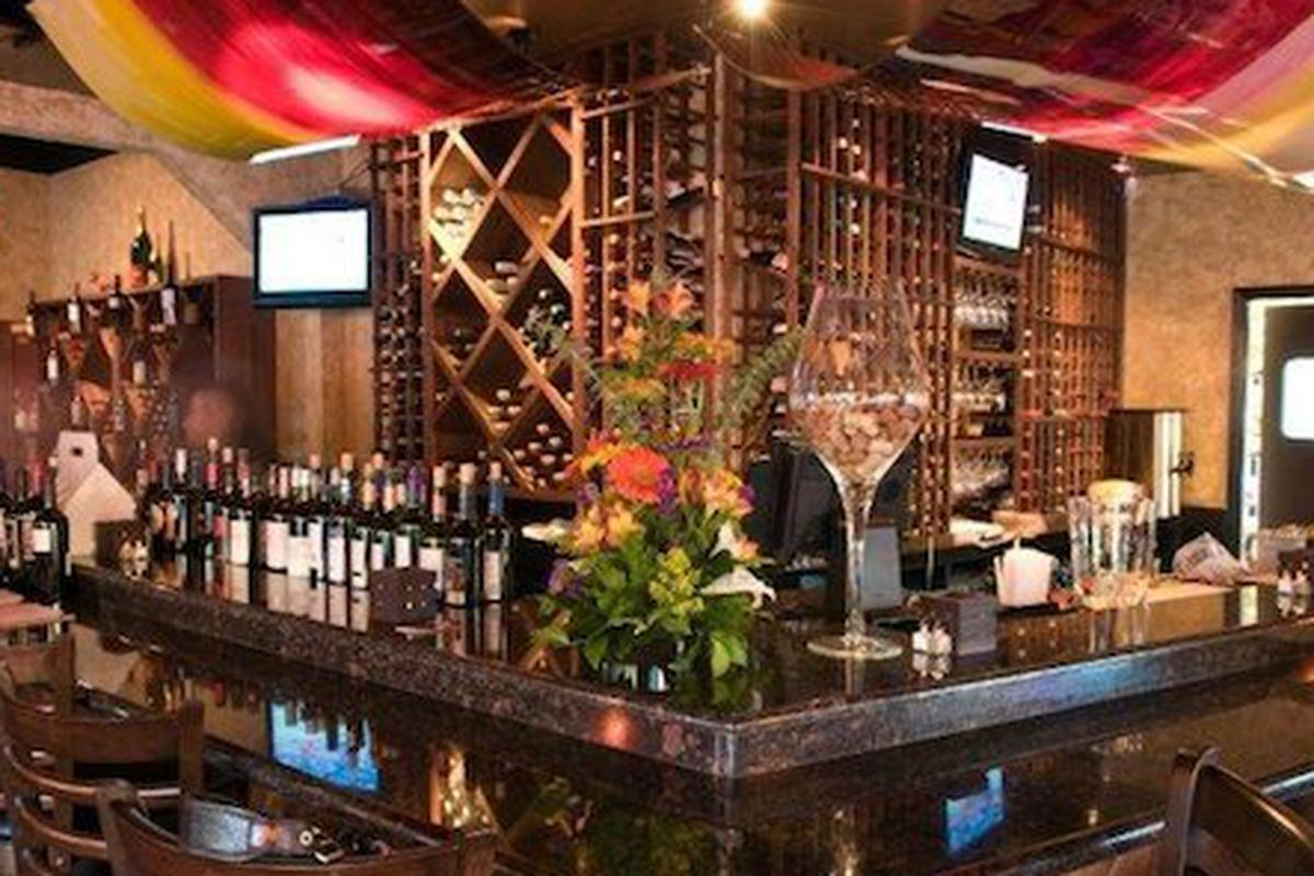 The bar at Tinto's Spanish Restaurant and Wine Bar.