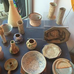Pottery from designer, Lauren Manoogian's travels