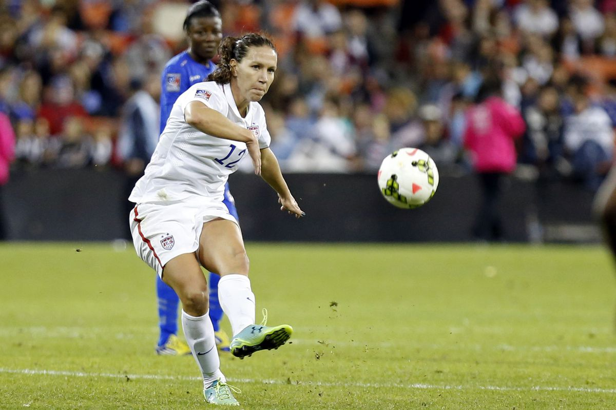 Lauren Holiday is one of four Blues players called up for Algarve Cup
