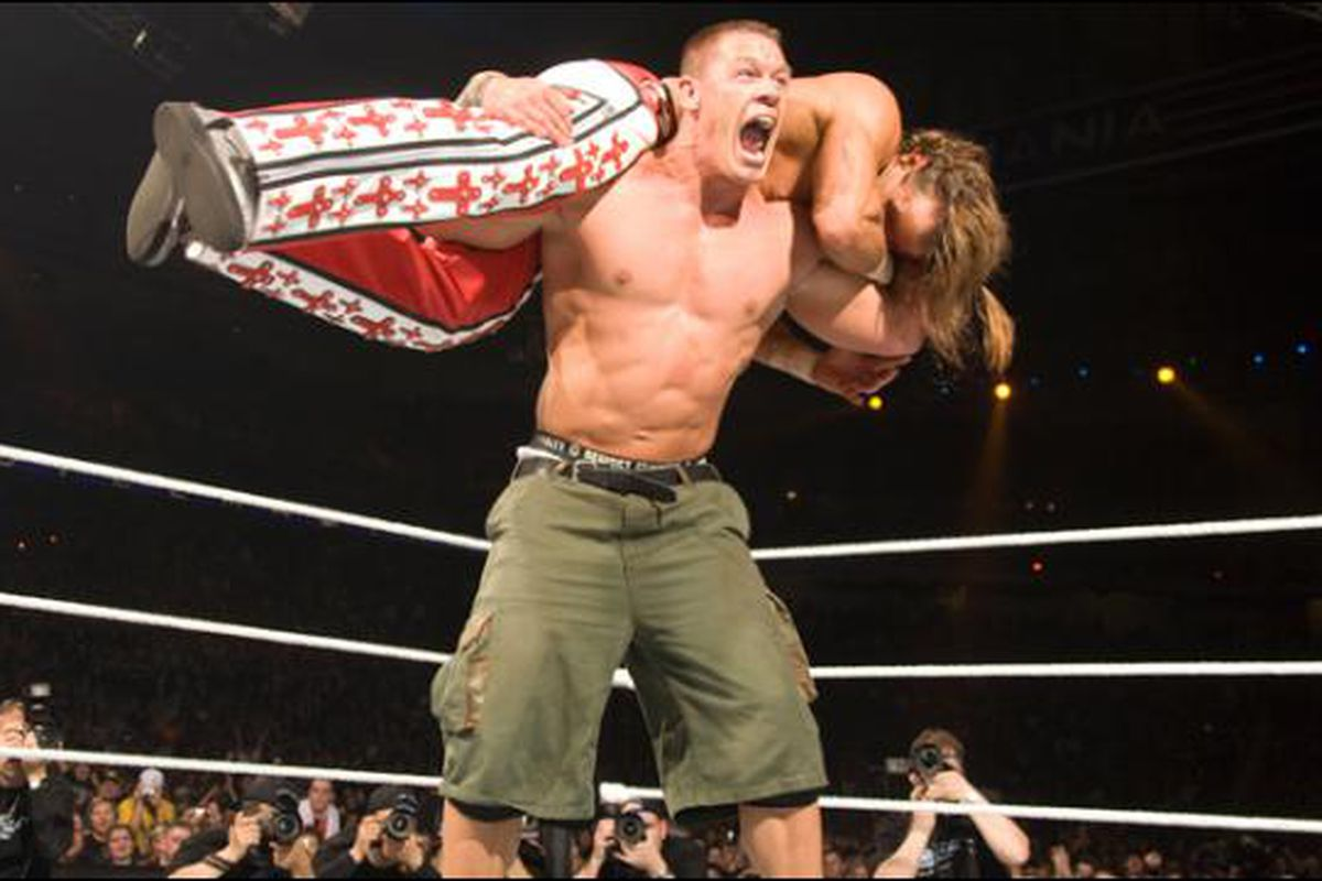 Image result for wrestlemania 23 cena michaels