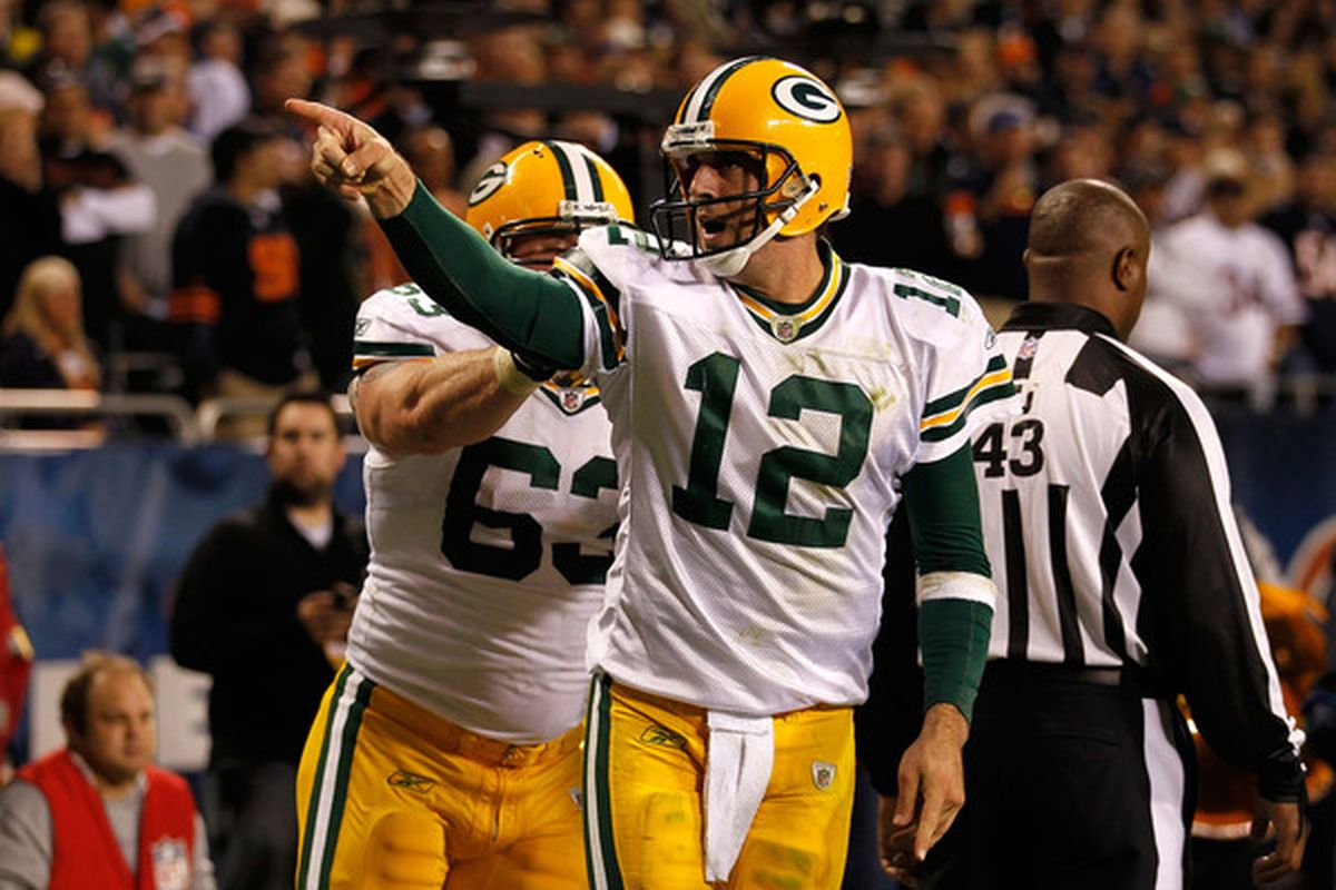Aaron Rodgers is a lock for the top fantasy quarterback. (Photo by Jonathan Daniel/Getty Images)