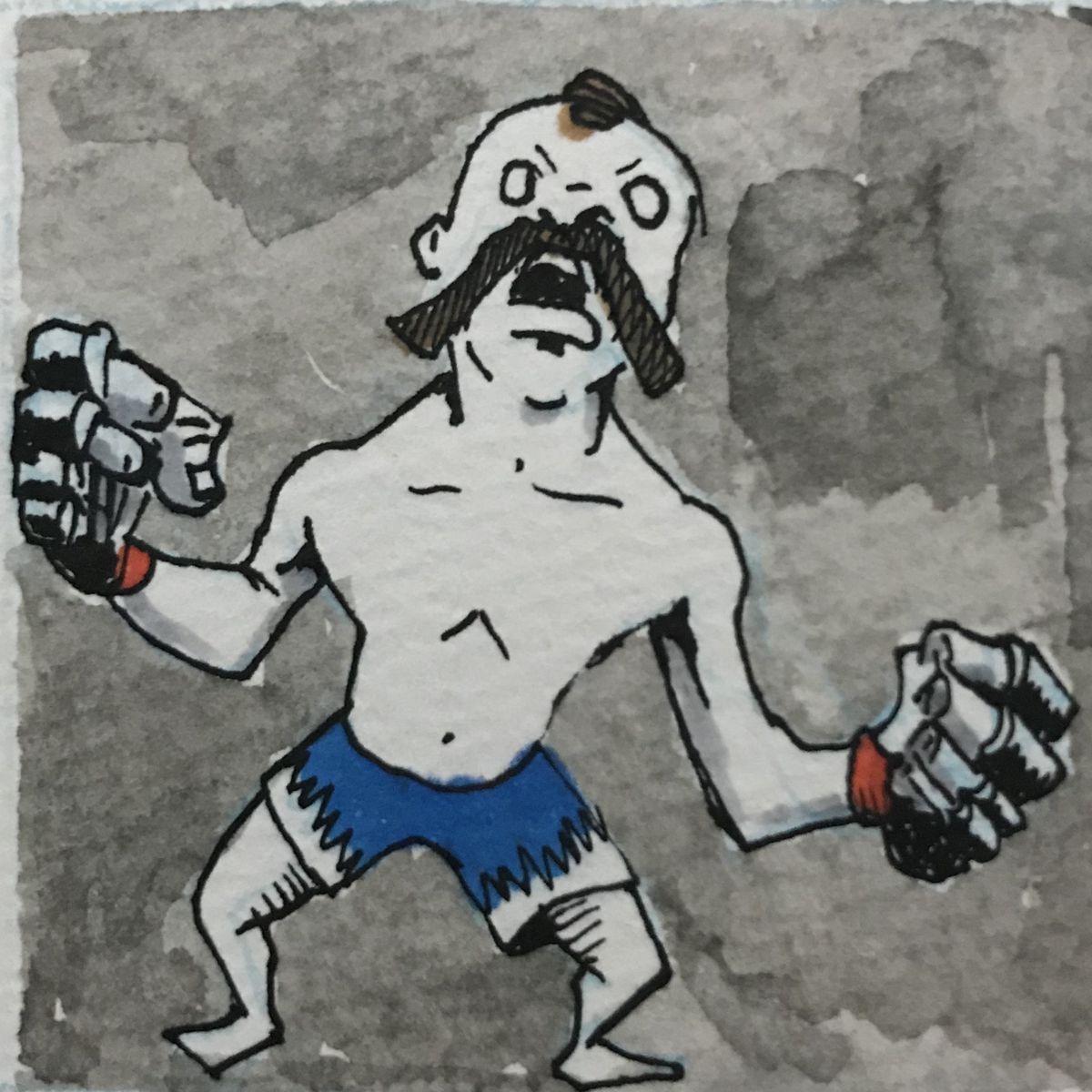 Chris Rini, MMA Squared, Edward Gorey, Gorey Alphabet, Gorey MMA, Chuck Liddell, The Iceman,