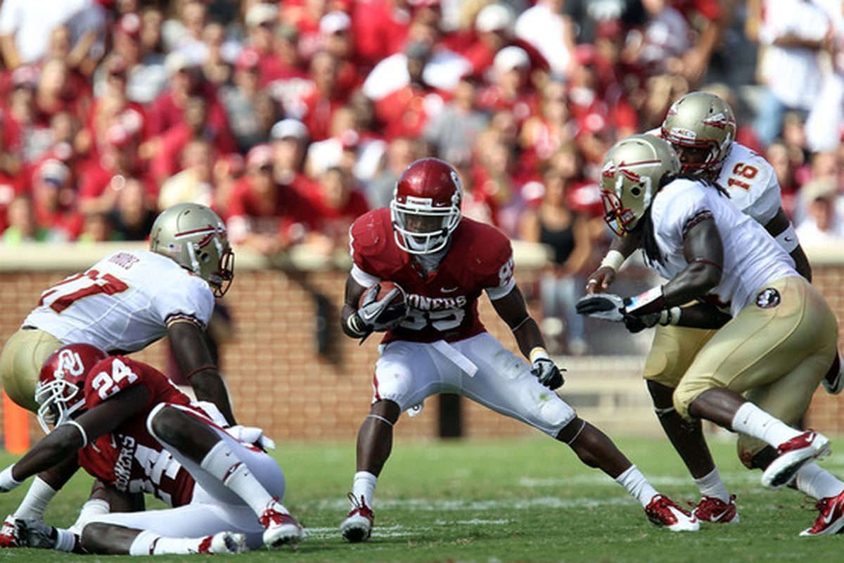 Ryan Broyles tops the charts in many of the Sooners Receiving Records which is why he finds himself atop the list of all-time great receivers during the Bob Stoops era