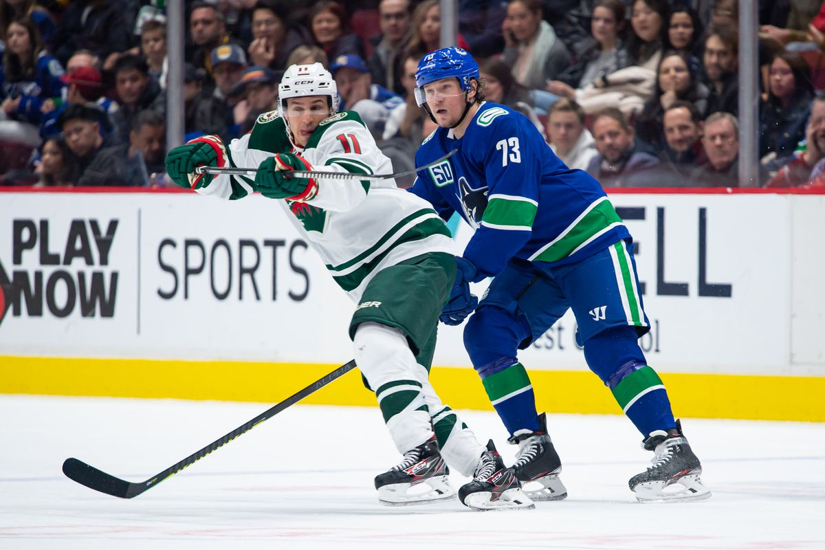 Play In Preview How Do The Wild And Canucks Match Up Offensively Hockey Wilderness