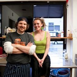 Tom was joined by sous chef Aurelia Eisenvopf, who works most nights at Foreign Cinema.