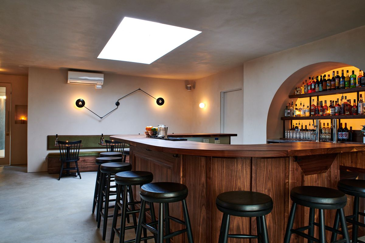 Someday' black walnut bar