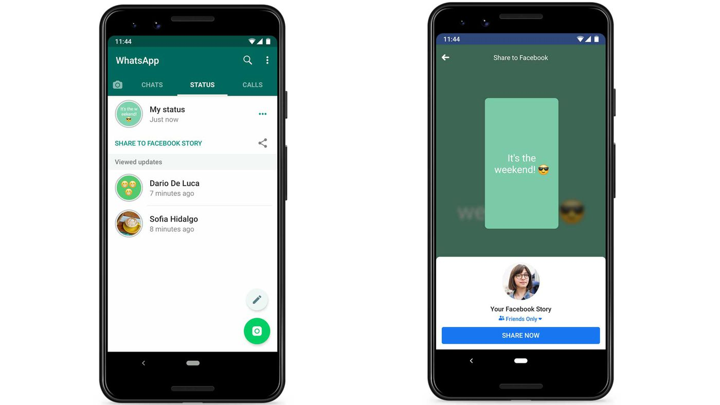 WhatsApp tests feature that shares your status to Facebook