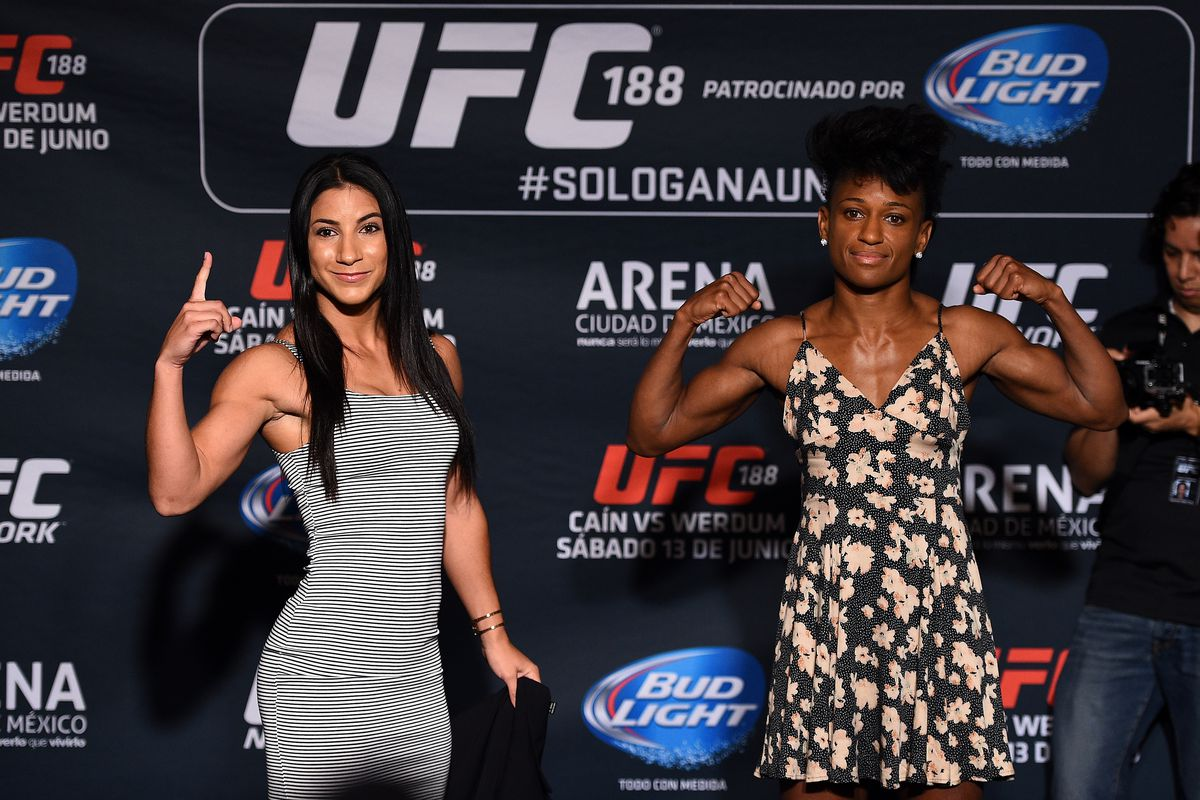 Tecia Torres and Angela Hill ahead of their first meeting at UFC 188.