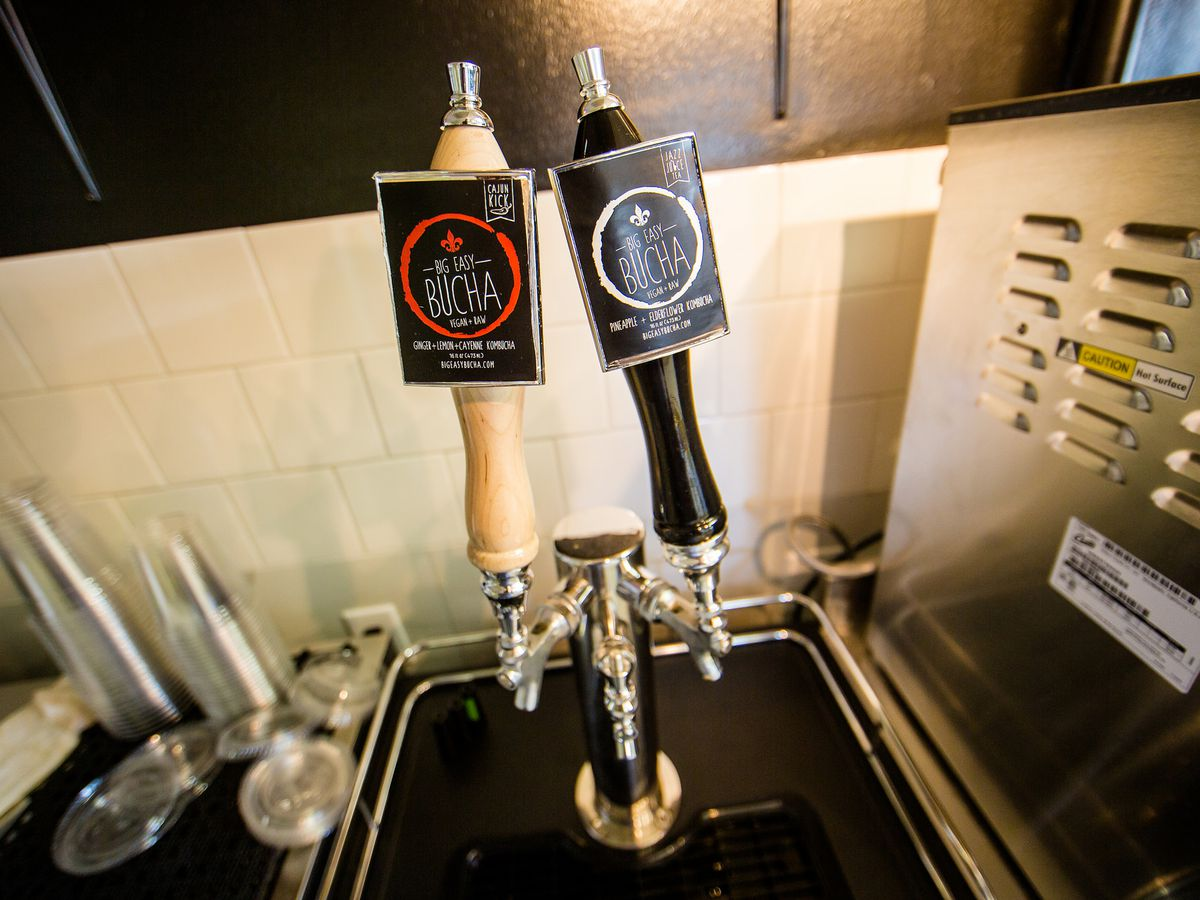 Big Easy Bucha, available on tap at Green Fork, HiVolt and more Nola hotspots.