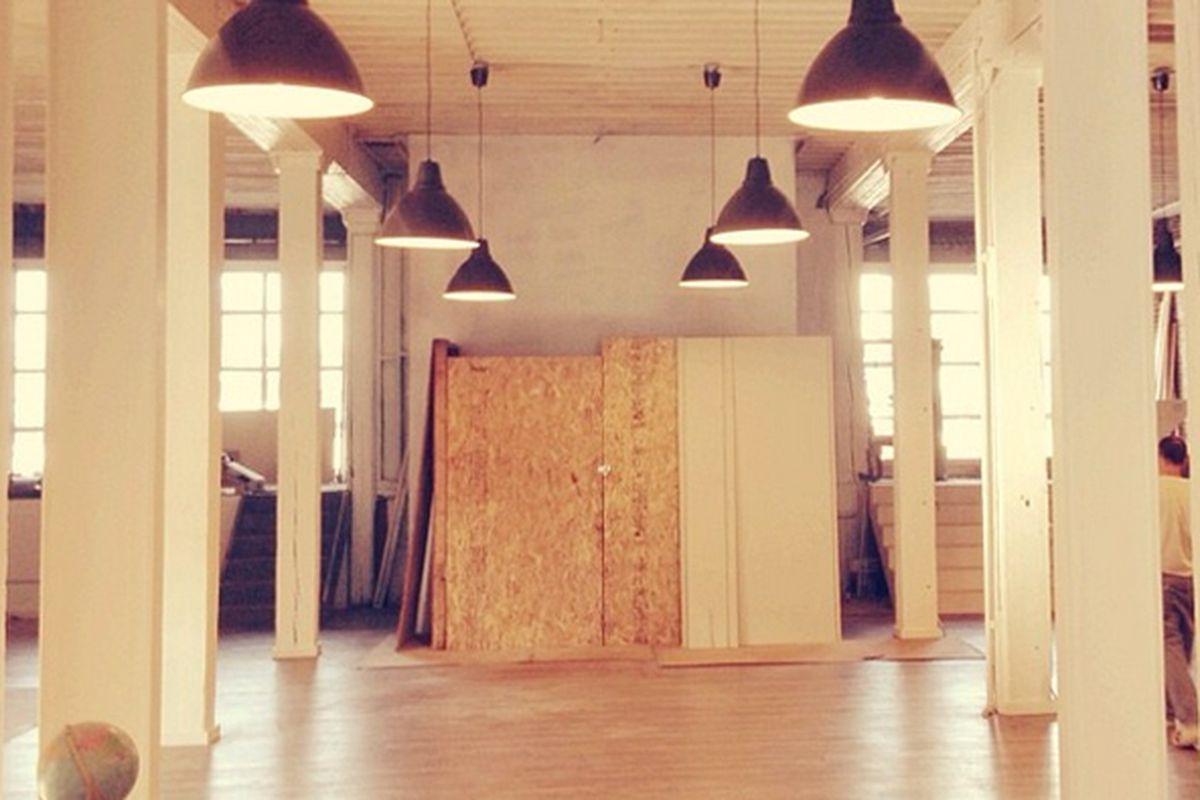 "The Unique Space during renovations last month. Image via @theuniquespace/<a href=""http://instagram.com/p/f1piYmAPJw/"">Instagram</a>"