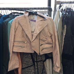 Leather biker jacket, $250