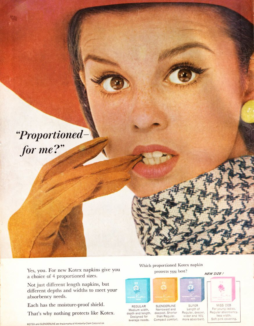 A 1963 ad for Kotex.