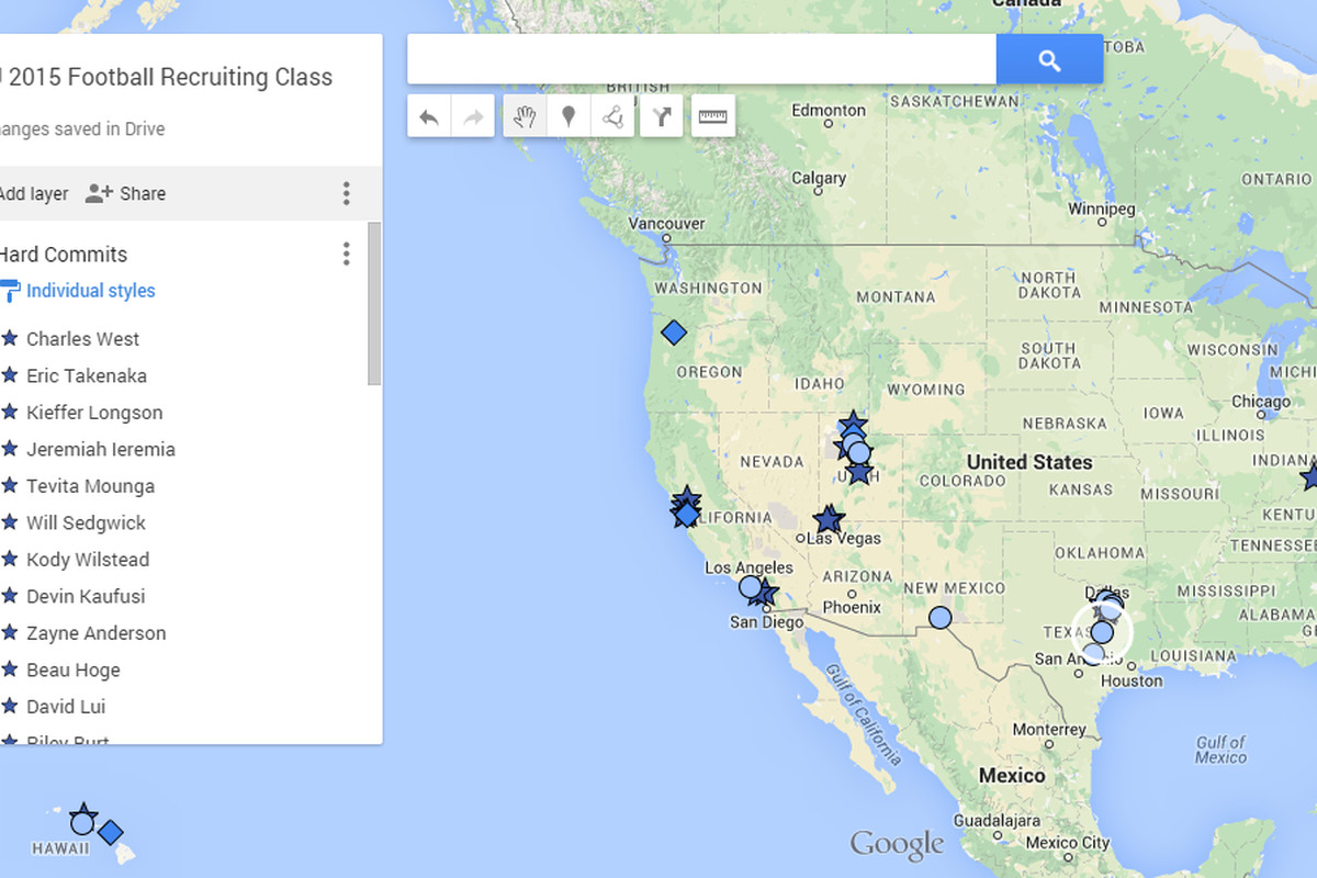 BYU football recruiting 2015 commit and offer map  Vanquish The Foe
