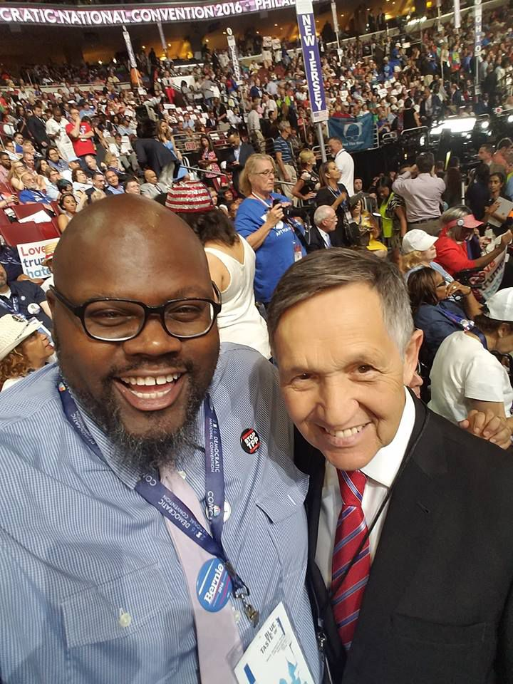 Ray McKinnon with former Congressman Dennis Kucinich at the Democratic convention in Philly