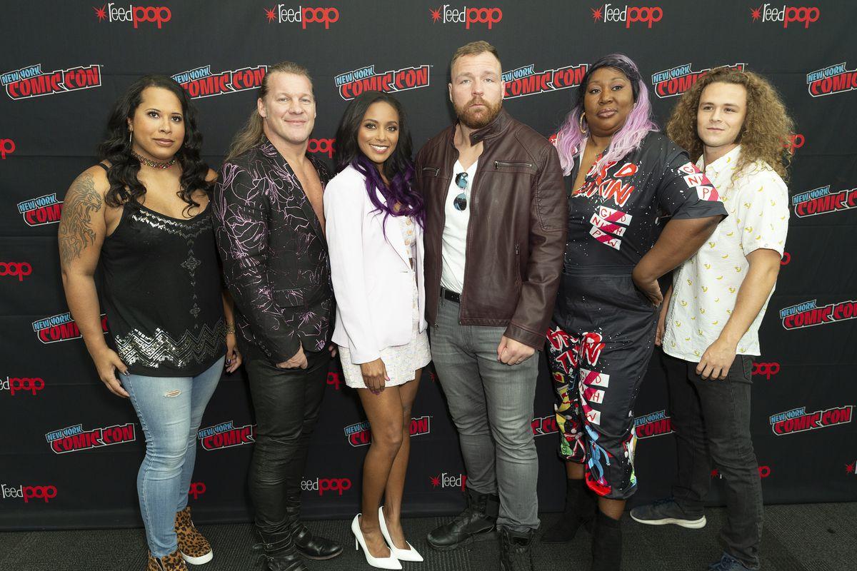 Cast of TNT series All Elite Wrestling: Dynamite attends...