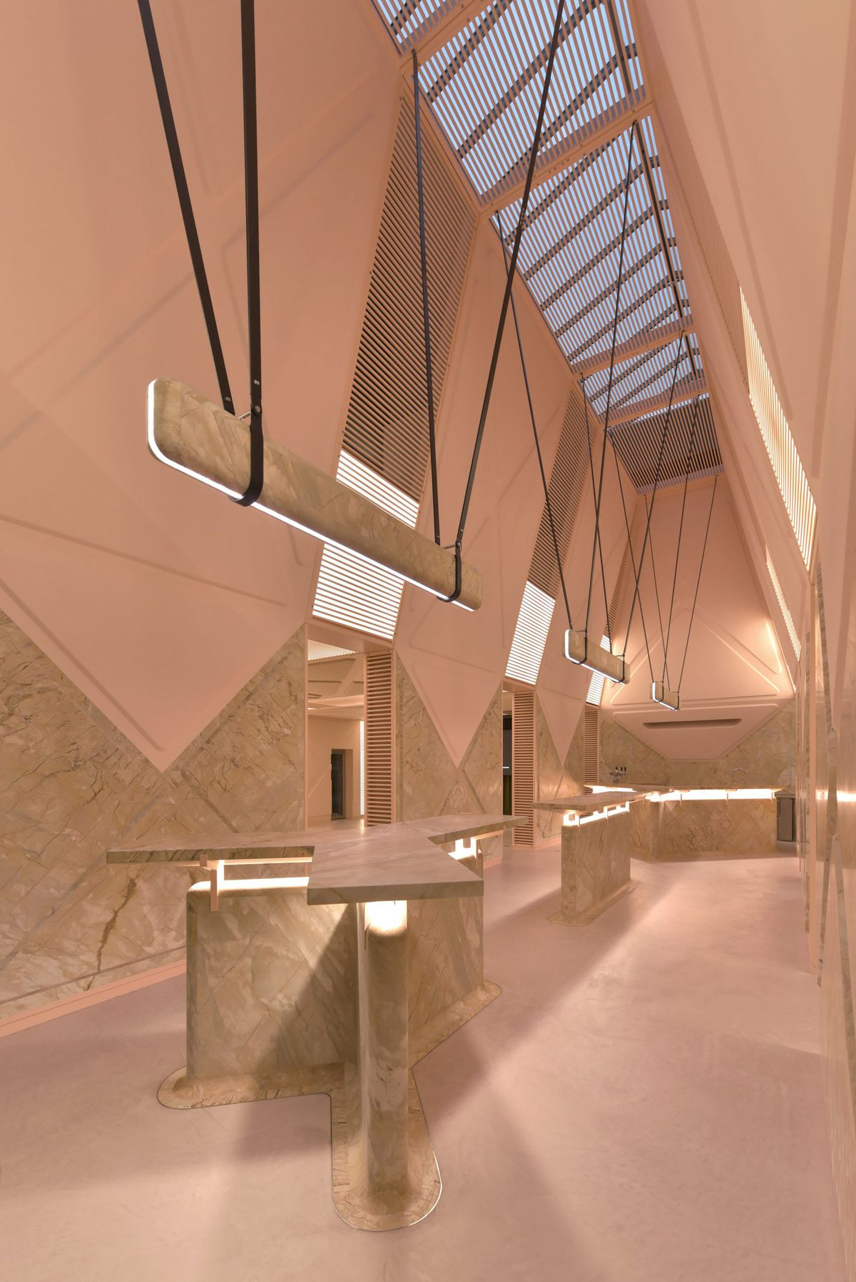 Pink Marble Lounge Opens In Ghent Belgium Curbed