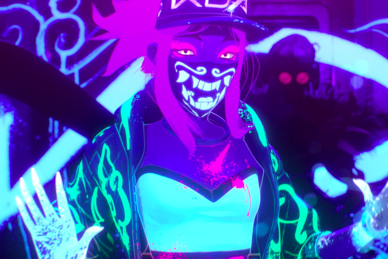 league of legends adds a neon look in celebration of its virtual k pop star