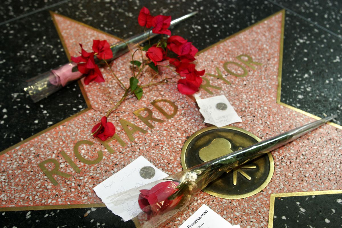 Flowers Placed at Richard Pryor's Star