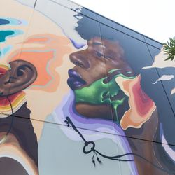 Artist Max Sansing's mural, painted for 29Rooms Chicago. | Erin Brown/Sun-Times