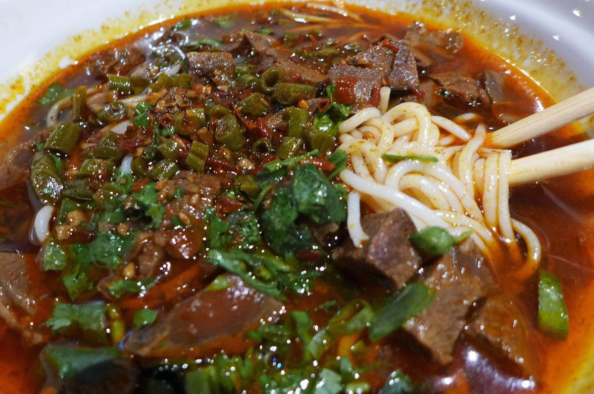Mi fen rice noodles at Yuan