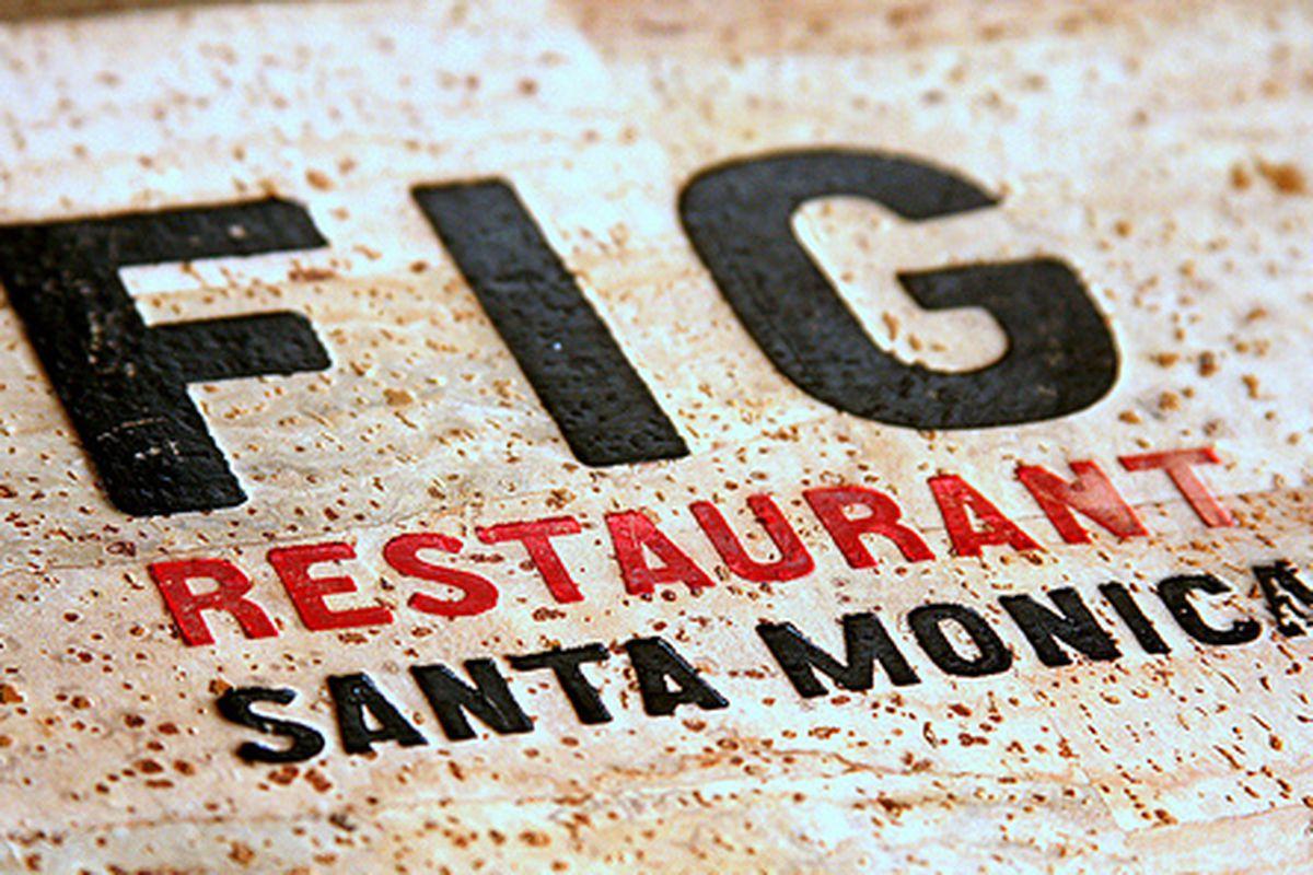 Menu Cover at Fig, Santa Monica.