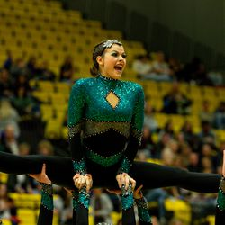 Kanab High School's drill team performs during the 2A state drill team finals at the UCCU Center at Utah Valley University in Orem on Friday, Jan. 31, 2020.