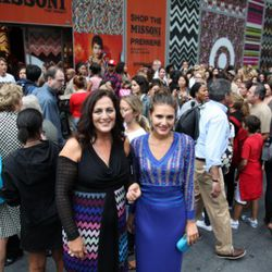 Angela Missoni and Margherita Maccapani Missoni in front of the pop-up