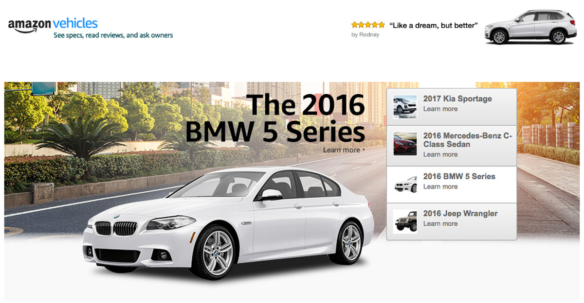 Amazon launches new hub for car buyers — but isn\'t selling them ...