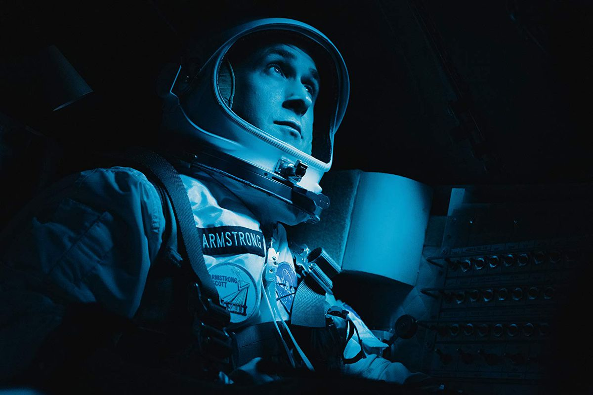 Ryan Gosling stars in First Man, which was catapulted into right-wing Twitter controversy last week.