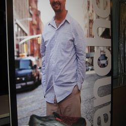 Sanchez with poster