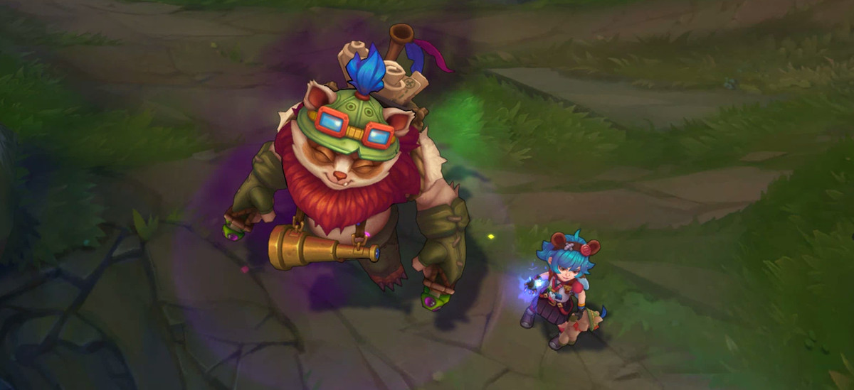 Annie-versary stands next to her horrifying Teemo Tibbers.