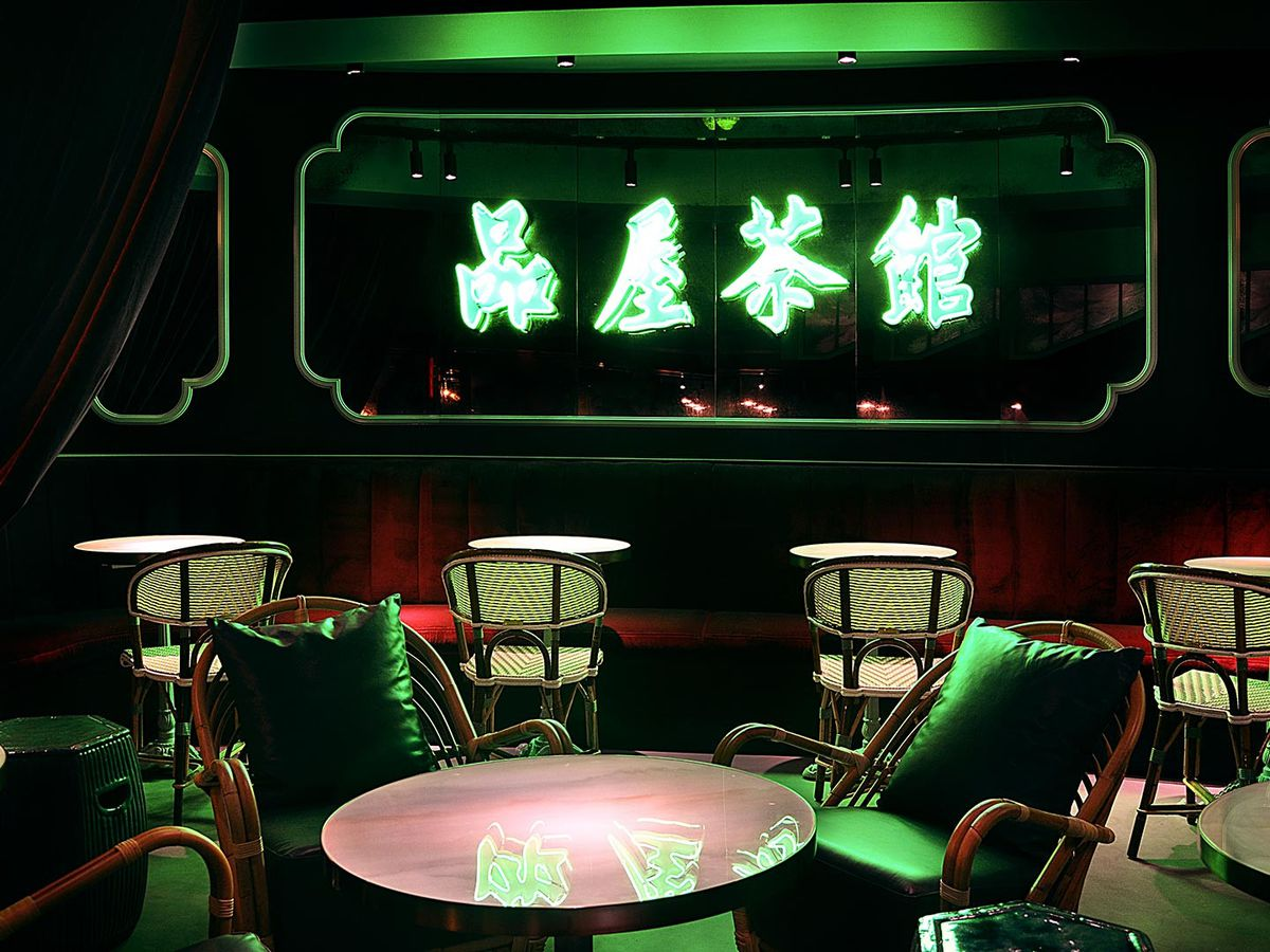 The bar at Wun's, one of London's hottest cocktail bars