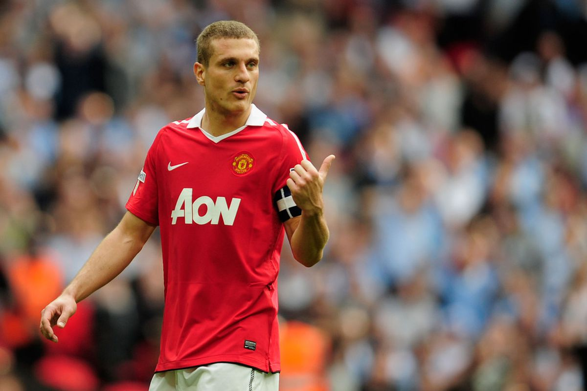 Manchester United captain Nemanja Vidic is arguably the standout player of the 2010-11 English Premier League season.  (Photo by Jamie McDonald/Getty Images)