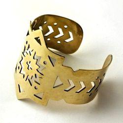 Cutout cuff in bronze.