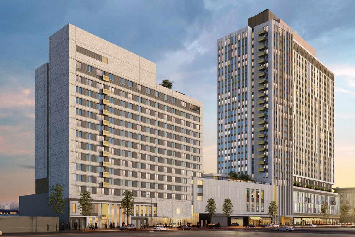 Jamaica's enormous AirTrain-adjacent rental buildings are ... Adjacent Buildings