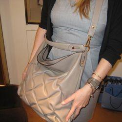 The Nancy Hobo worn as a cross body.