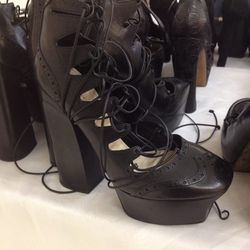 Platform lace-up with chunky heel, $100