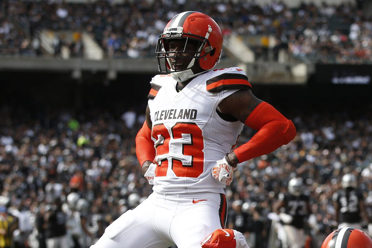 online retailer af076 02e8d Bengals vs. Browns: Damarious Randall gives interception ...