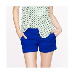 "4"" Chino Short in Bright Indigo, $45 at <a href=""http://www.jcrew.com/womens_category/shorts/chinocotton/PRDOVR~82043/82043.jsp"">J.Crew</a>"