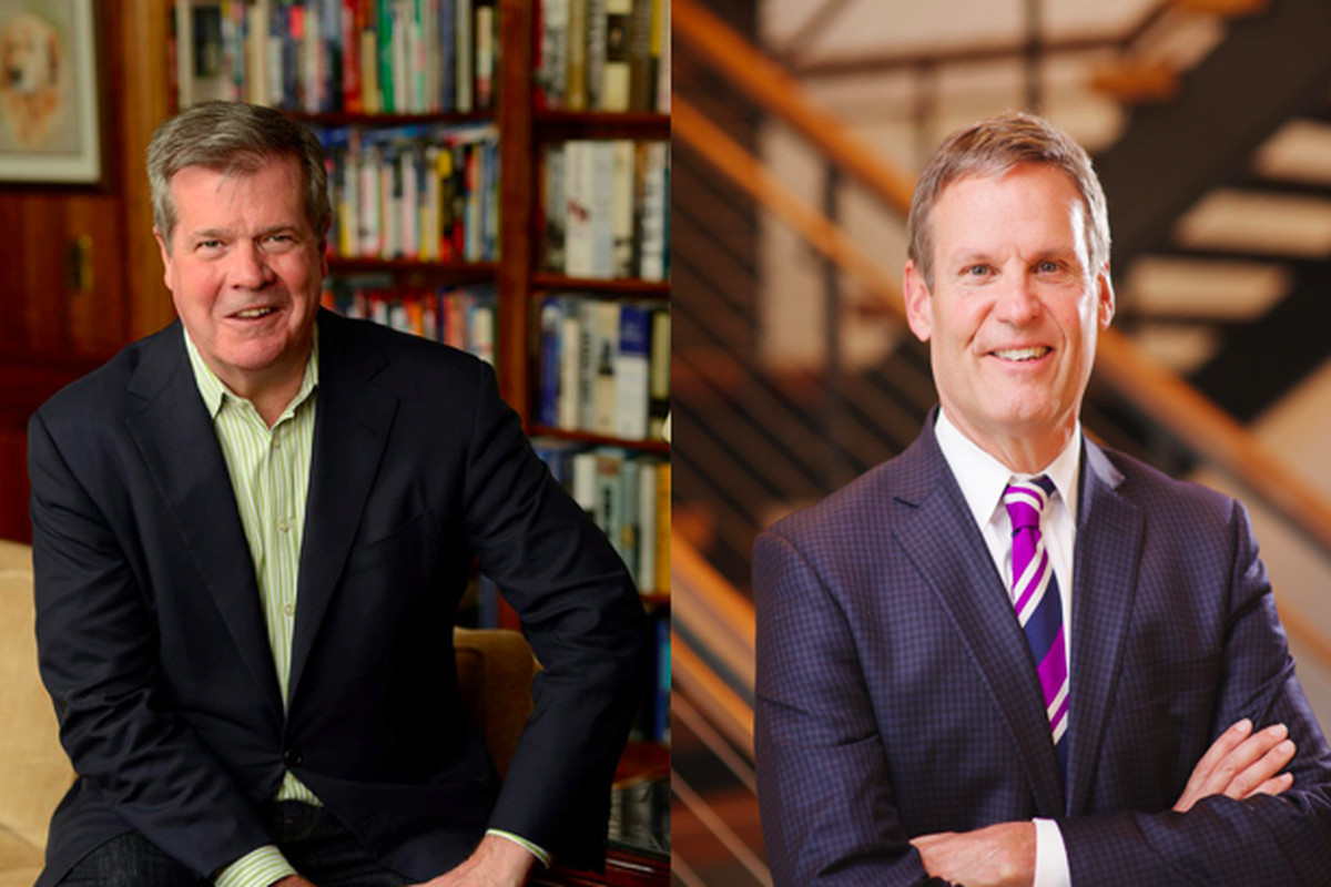 From left: Former Nashville Mayor Karl Dean and Williamson County businessman Bill Lee will face off Nov. 6 in the general election to become Tennessee's 50th governor.