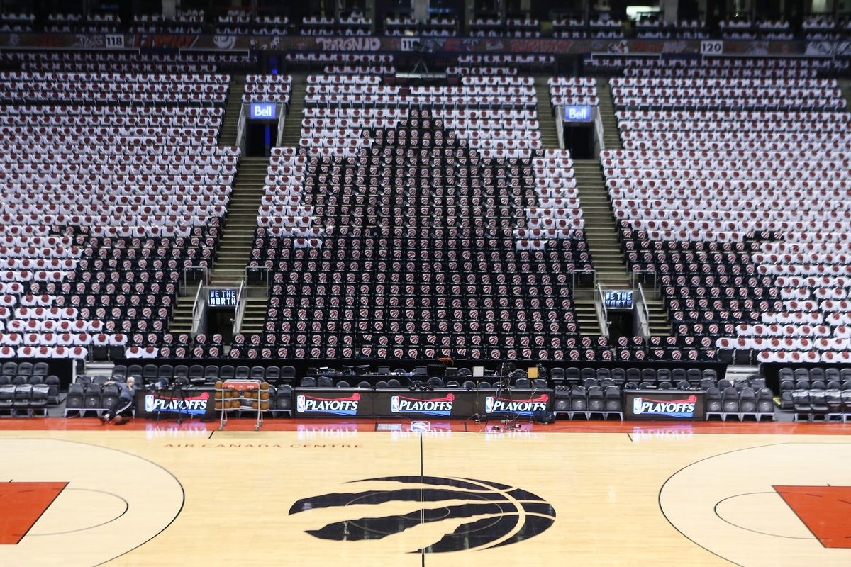 Toronto Raptors play the Miami Heat in game seven of their Eastern Conference Semifinal