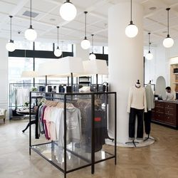 """<b>↑</b> <a href=""""http://www.kitsune.fr/""""><b>Maison Kitsuné</b></a> (1170 Broadway) is more than just a store, it's a lifestyle. (That might sound cheesy if that lifestyle wasn't the Parisian It Girl kind.) The cult favorite house label is complemented by"""