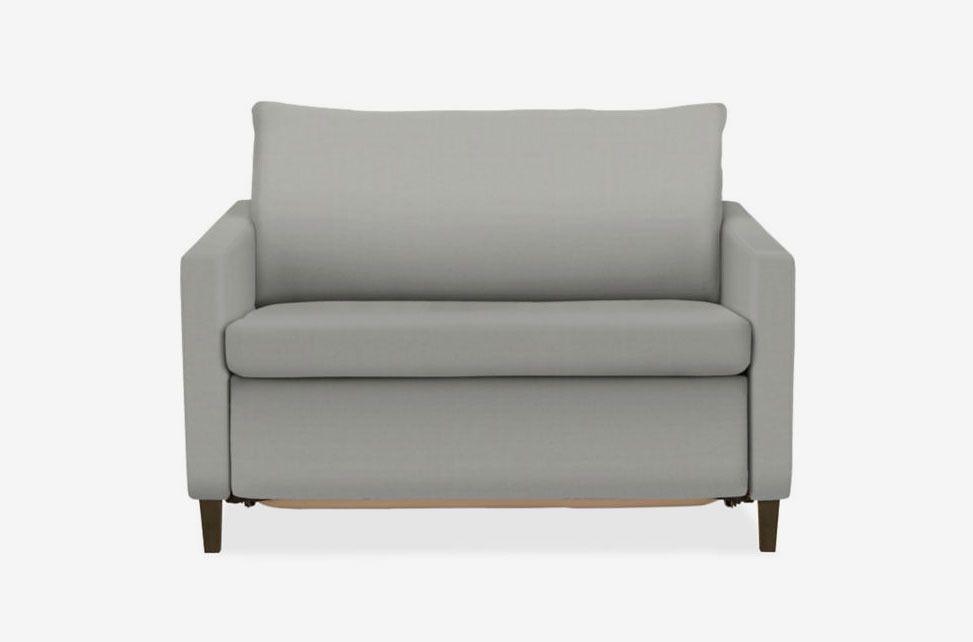 Light gray armchair.