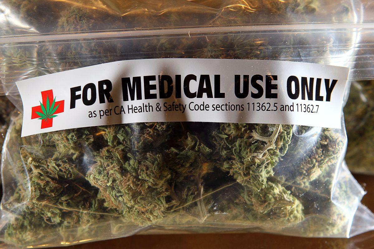 A bag of medical marijuana.