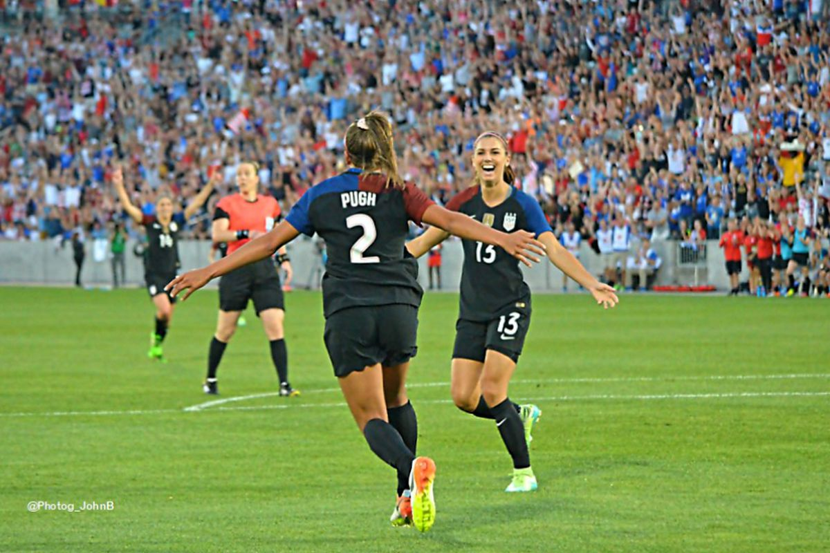 7681771c05a Colorado's Mallory Pugh connects with Alex Morgan to lift the USWNT over  Scotland