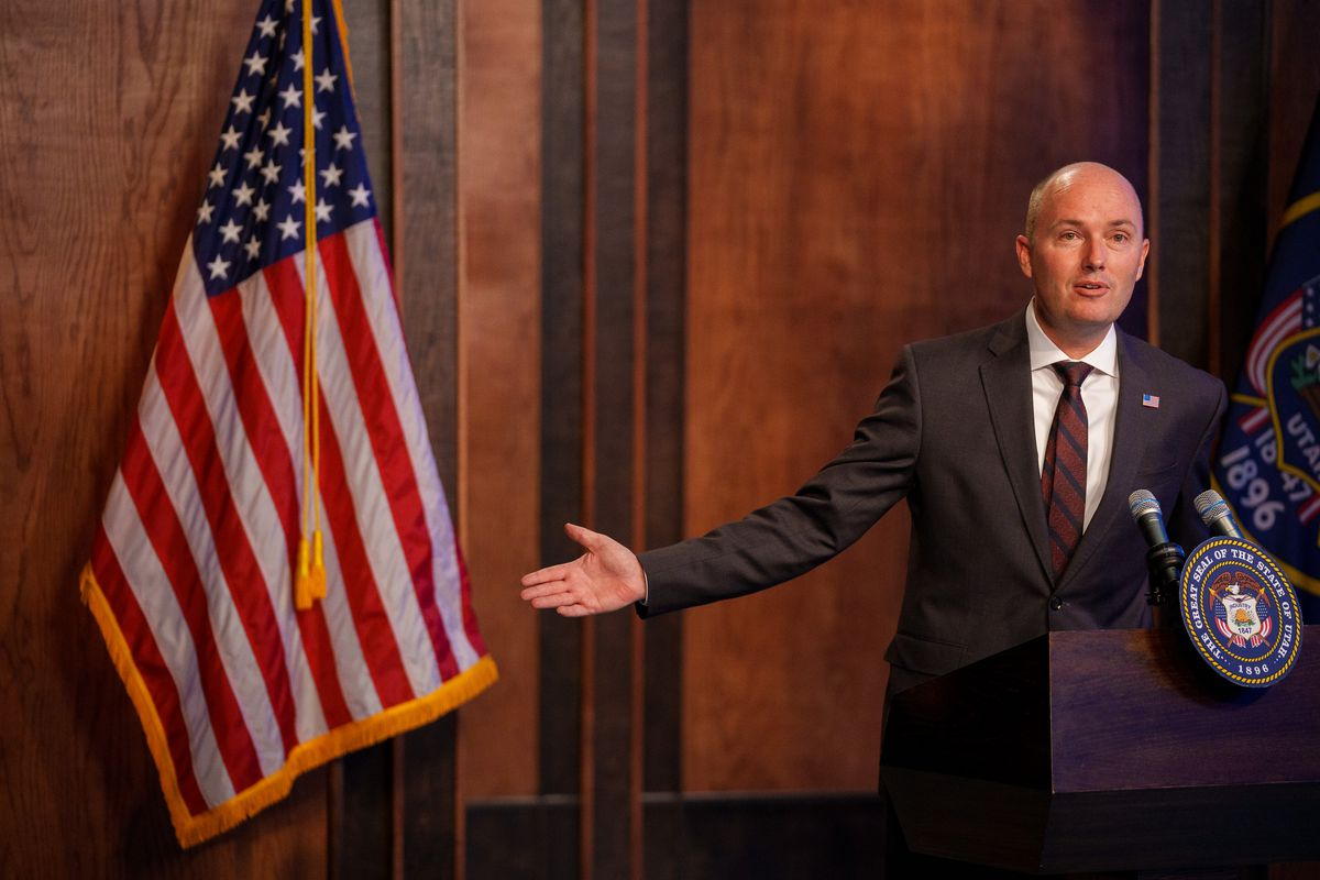 Gov. Spencer Cox addressed critical race theory at his monthly news conference at the PBS Utah studios in Salt Lake City on Thursday,