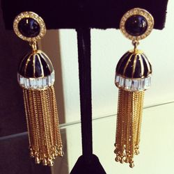 Tassel Collection clip-on earrings, $265