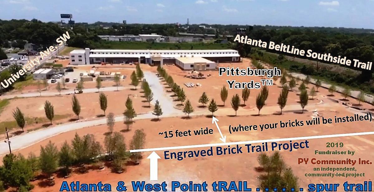 A picture describing where the trail will fit on the project site between University Avenue and the Beltline.