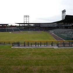 View toward home plate from LF berm